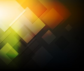 Abstract square with colored background vector