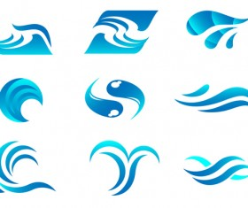 Abstract water logos vector material