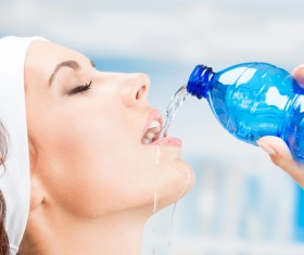 Add water to the woman Stock Photo