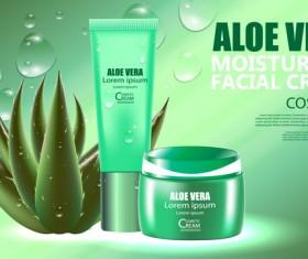 Aloe vera cosmetic ream poster vectors template 05