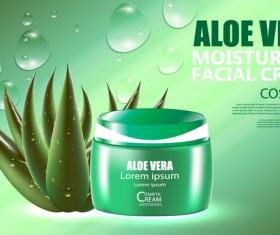 Aloe vera cosmetic ream poster vectors template 06