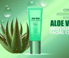 Aloe vera cosmetic ream poster vectors template 07