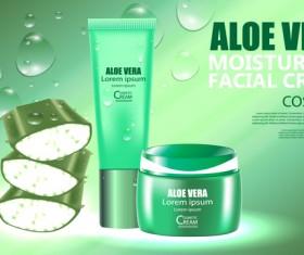 Aloe vera cosmetic ream poster vectors template 08