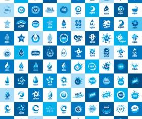 Aqua logos creative vector