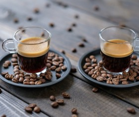 Aromatic coffee and coffee beans HD picture