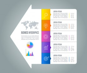 Arrow with business infographic vector 02