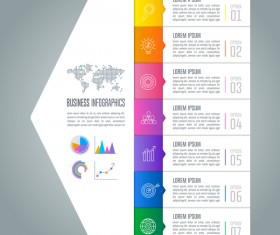Arrow with business infographic vector 04