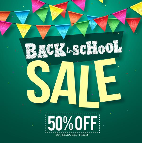 Back to school discount background vector