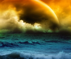 Bad weather at sea Stock Photo