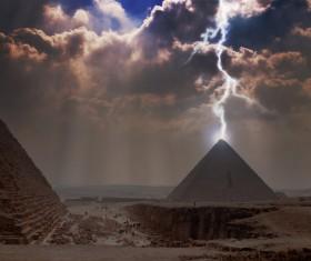 Bad weather pyramid Stock Photo