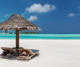 Beautiful resort beach HD picture