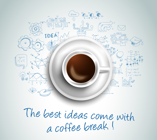 Best Ideas coffee business template vector