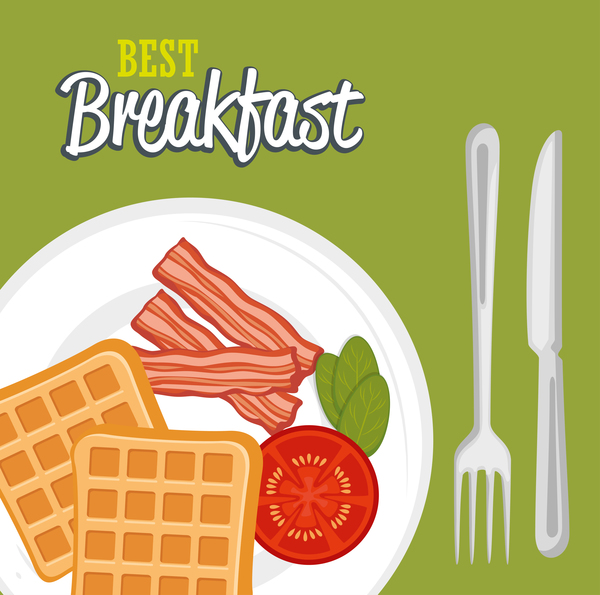 Best breakfast vectors material 01