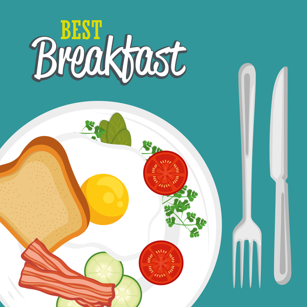 Best breakfast vectors material 02