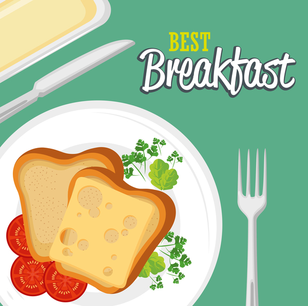 Best breakfast vectors material 03