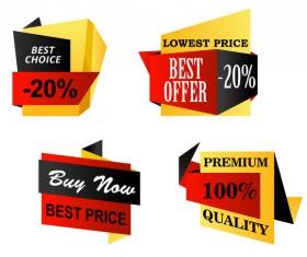 Best choice sale banners vector set 01