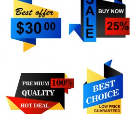 Best choice sale banners vector set 02