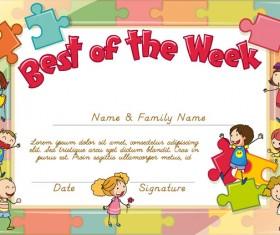 Best the week kids template design vector