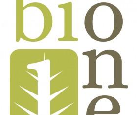 Bione logo design vector