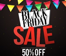 Black friday sale discount background vector