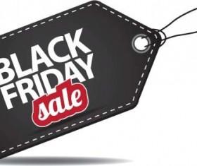 Black friday sale tag vector