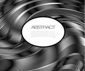 Black wavy lines abstract background vector