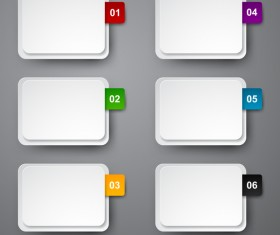 Blank infographic banners vectors 03