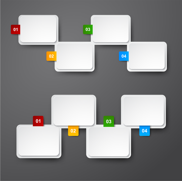 Blank infographic banners vectors 04