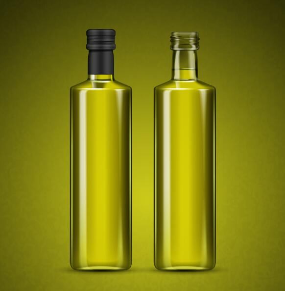 Blank olive oil bottle vector