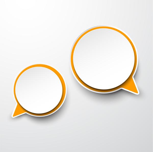 Blank speech bubbles vector material 02