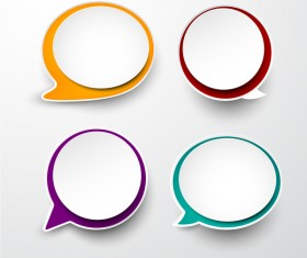 Blank speech bubbles vector material 03