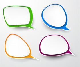 Blank speech bubbles vector material 04