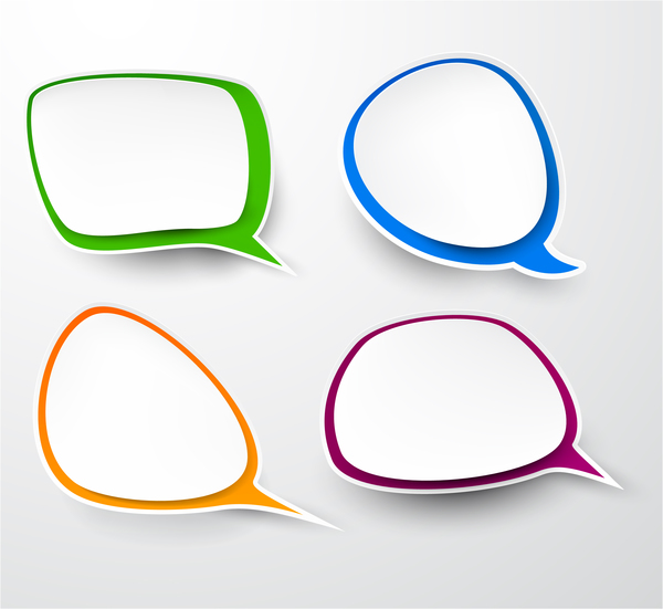 Blank speech bubbles vector material 04