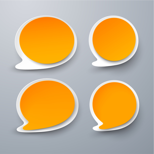 Blank speech bubbles vector material 05