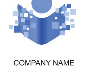 Blue abstract company logo vector
