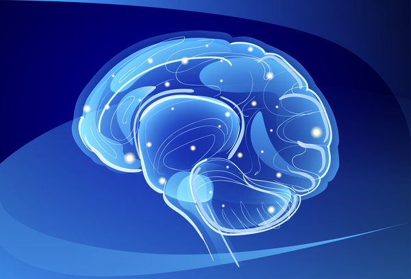 Brain neurons with blue background vectors 02