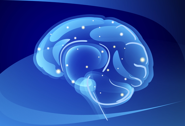 Brain neurons with blue background vectors 03