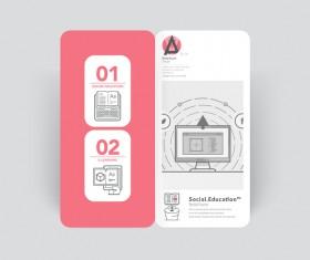Brochure cover design creative vector 05