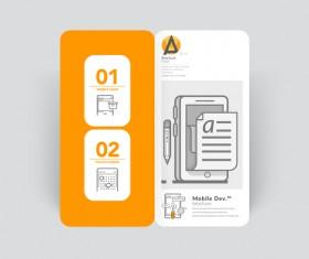 Brochure cover design creative vector 06