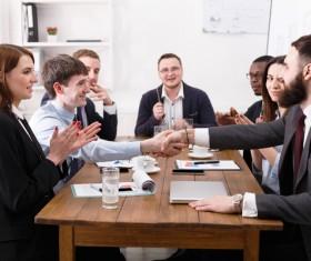 Business negotiation Stock Photo