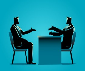 Businessman Silhouette Job Interview vector