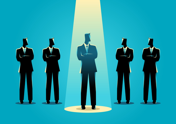 Businessman Silhouette On The Spot vector