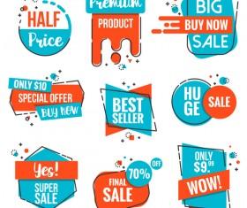 Buy now sale labels vector