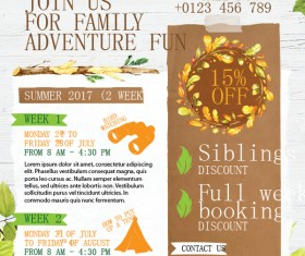 Camping flyer template vector 01