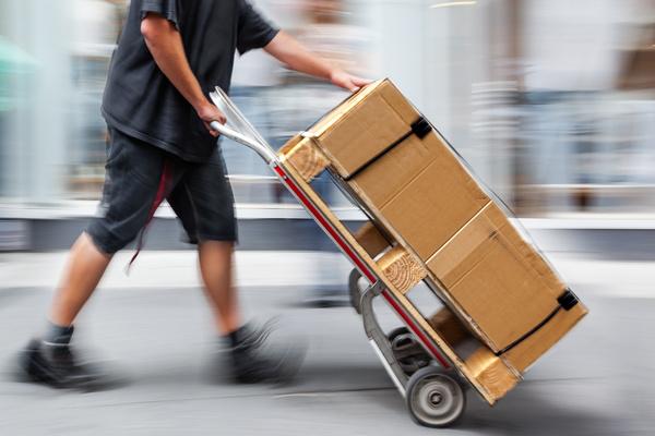 Carts carry goods Stock Photo
