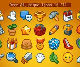 Casual Game Basic Icons Set