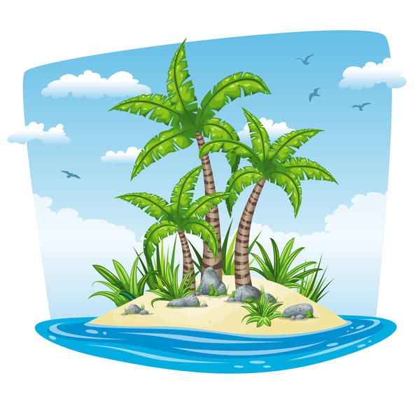 vector scenery tropical - photo #10