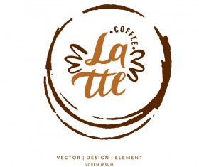 Circle coffee logos design vector