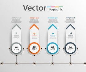 Circles with banner infographic vector 01