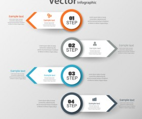 Circles with banner infographic vector 02